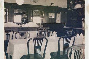 Old restaurant interior