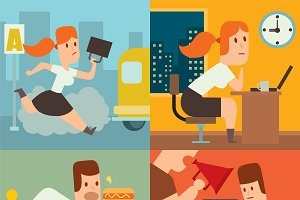 Business work time vector