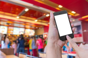 Touch on smartphone, food online
