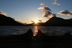 Sunset Over Lake Wenatchee 1