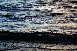 Sunset Reflected on Waves