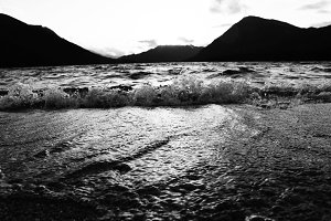 Black and White Mountain Lake