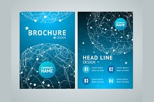 Brochure Design in A4 Size. Vector