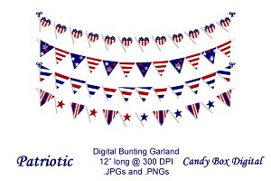Patriotic Digital Bunting