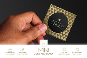 Mini Gold And Black Business Card
