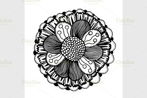 hand drawn doodle flower