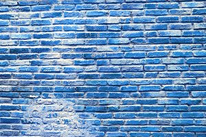Blue old vintage detail brick aged wall background