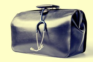 Medical bag with stethoscope