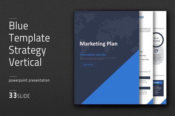 Blue Template Strategy Vertical