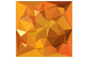 Dark Orange Yellow Abstract