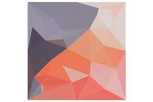 Indian Red Abstract Low Polygon