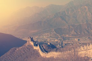 top view of Chinese wall.