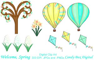 Welcome, Spring! Clip Art