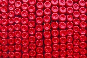 Stack of bottom plastic bottles