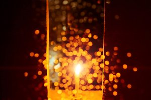 Candle light with bokeh