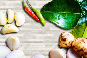 food ingredient background