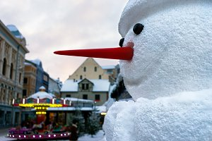 Riga. Snowman