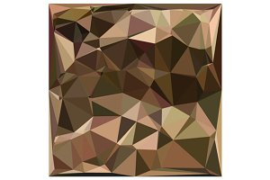 Sienna Abstract Low Polygon