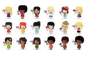 Girls & Flags