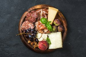 Italian antipasti snacks