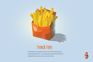 Vector french fries