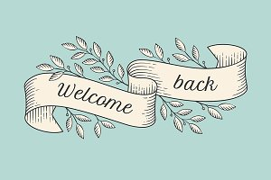 Greeting card. Welcome back