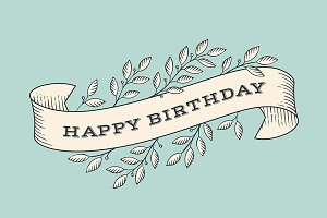 Greeting card. Happy Birthday.
