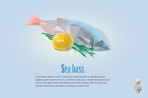 Vector sea bass
