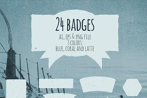3 colors badges