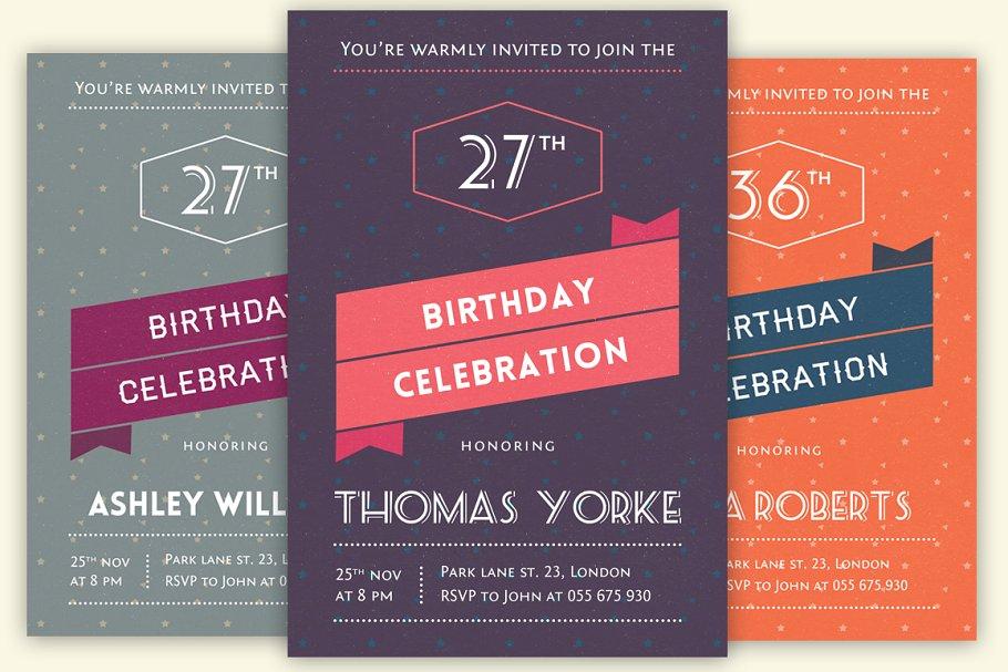 Retro Invitation Cards