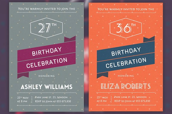 retro invitation cards invitation templates creative market