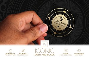 Iconic Gold And Black Business Card
