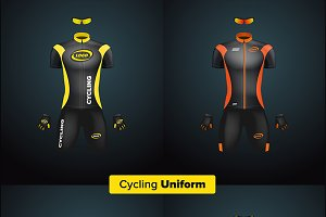 Realistic vector cycling uniform set