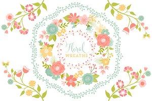 Floral Vector Wreaths