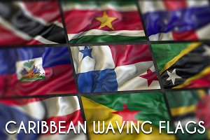 Caribbean Waving flags