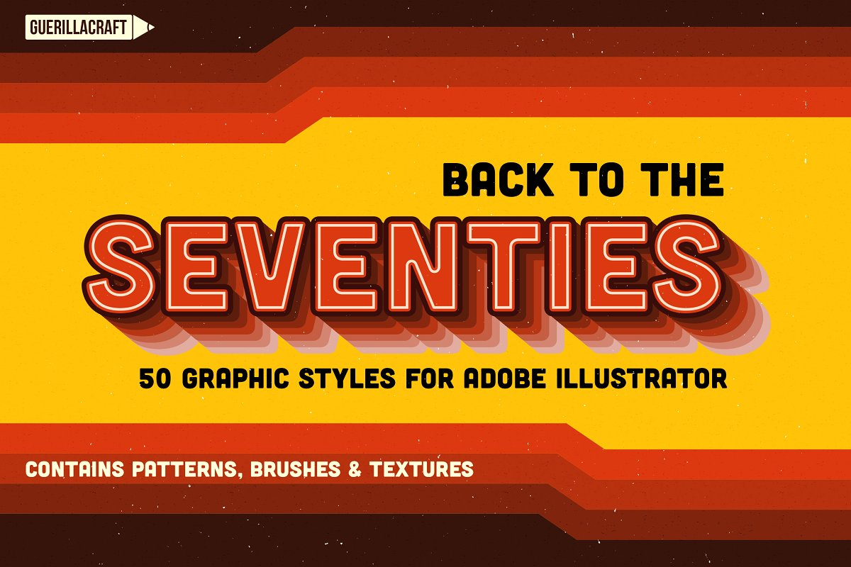 Back to the 70s ~ Illustrator Add-Ons ~ Creative Market