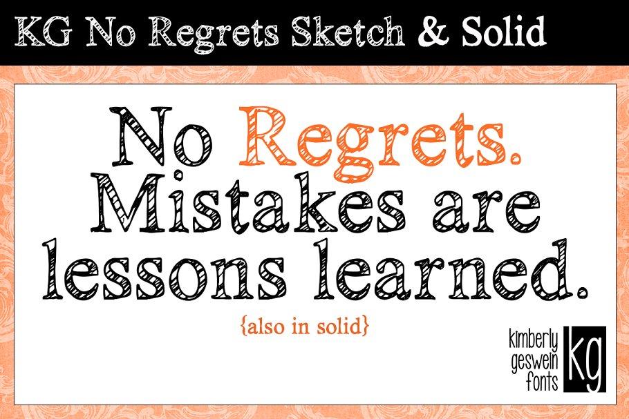KG No Regrets Sketch & Solid