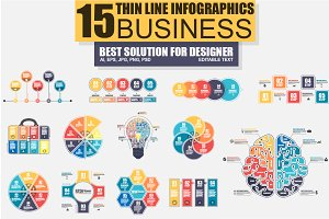 Thin Line Bundle Infographic Element