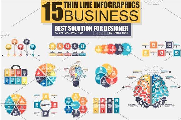 Thin Line Bundle Infographic Element