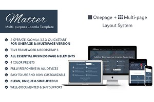 Matter-Multipurpose Joomla Template