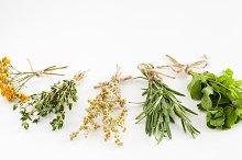 Healing herbs bunches