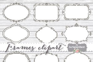 Hand draw frames clipart