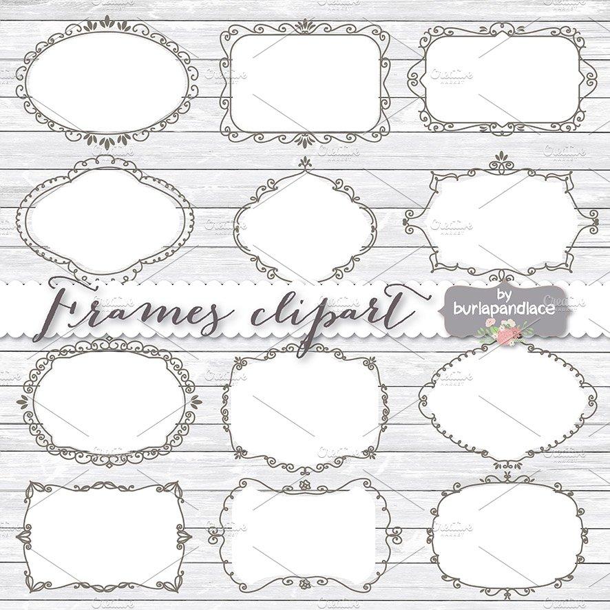 Hand draw frames clipart ~ Illustrations ~ Creative Market