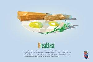 Vector breakfast