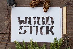 WoodStick Font