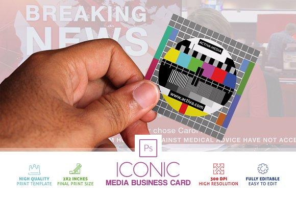 Iconic media business card business card templates creative market colourmoves
