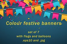 Set of colour festive banners.