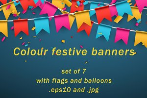 Set of colour festive banners.