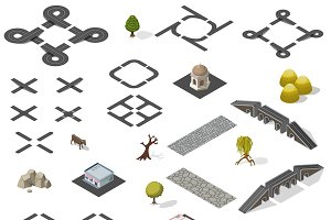 Road Map Kit  isometric