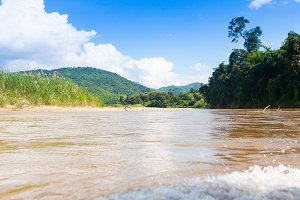 River landscape in nothern Thailand